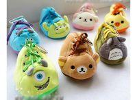 Cheap Hot Sale Soft Mini Cute Cartoon Totoro Bear Inc Pig Bear Shoes Style Coin Cases Key Purse Storage