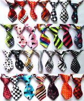 Bandanas, Bows & Accessories pet - 10 Fashion Polyester Silk Pet Dog Necktie Adjustable Handsome Bow Tie Necktie Grooming Supplies