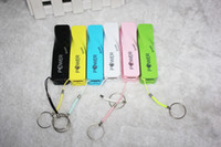 Wholesale 2600mah power bank colorful external charger for iphone S Samsung Micro cable retail package Fast shipping