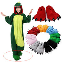 Cheap Wholesale-Family Unisex pajama sets costumes SHOES Cartoon Animal Slippers Paw Claw Home Flat Shoes Warm Winter XJJ0046