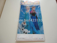 Wholesale Frozen movie Elsa Anna child happy birthday party decoration long rectangle table covers frozen party PVC table cloth supplies