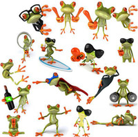 Wholesale wall sticker D stereo personalized frog total models stickers funny new creative personality car stickers ACT28