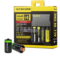 Wholesale Drop Ship in Intellicharger Nitecore I4 Charger Universal Charger for CR123A Battery E Cigarette Charger