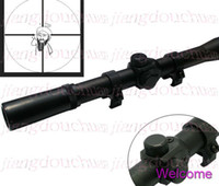 Cheap Wholesale-Super Value!! 4 x 20 Optics Cross Rifle Scope for Air Gun and hunting with Mounts + Free Shipping