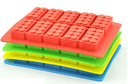 Wholesale Chocolate mould Ice cube Trays mold legoes ice block brick building shape Bar Party frozen Drink for Lego lovers