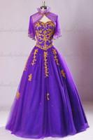 purple wedding dress - Real Image Purple Wedding Dresses Sweetheart Wraps A Line Ruffles Beaded Sequins Applique High Quality Elegant Formal Bridal Gowns
