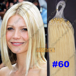 Wholesale 100strands set inch Micro Beads Loop Hair Extensions remy Human Hair Extensions g g g set