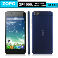 5.0 Android 1G DHL Shipping ZOPO ZP1000 MTK6592 Octa core cell phones 5.0INCH Ultrathin Smartphone IPS HD Srceen 1.7GHz CPU 1G RAM 16G ROM 14.0MP 3G OTG