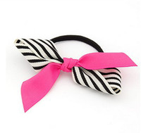 Wholesale Sell like hot cakes Japan and South Korea MM for stripe fabric bow hair bands hair band