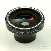 Wholesale degree Fisheye fish eye lens for iphone or mobilephone or digital camera with retail packaging