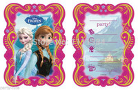 Wholesale 8pcs set Frozen party kid boy girl baby happy birthday party decoration kits supplies favors frozen invitations cards festa