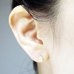 Wholesale 10pcs New Fashion Hot Gold Silver Coffee Cup and Bean Stud Earrings ED040