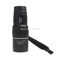 Cheap Wholesale-New Compact 16X52 Zoom Sports Monocular Telescope Mono Spotting Scope for Outdoor Traveling Hiking Camping Black