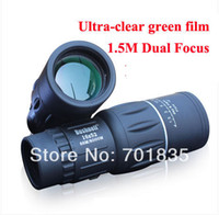 Cheap Wholesale-High-powered Ultra-clear Green Film Dual Focus HD Glimmer Night Vision Monocular Telescope 16X52 Free Shiipping