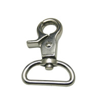 Wholesale Generic Silvery Inch Inside Diameter D Ring Lobster Clasp Claw Swivel Lobster Snap Clasp Hook for Strap Pack of