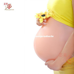 Wholesale DHL fake silicone belly artificial belly for false pregnancy with different size silicone belly
