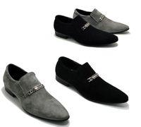 Wholesale Grind arenaceous cowhide male pointed slip on shoes men s leather shoes men s shoes business dress shoes