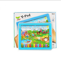 Wholesale 1pcs Kid s Educational Toys Y Pad Farm Animal sound English Tablet Computer Learning Machine Touch Screen