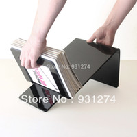 Wholesale pieces high quality acrylic magzine rack book organizer plexiglass brochure holder display rack for literature