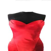 Wholesale Nina Dobrev Red Dress sweetheart Emmy Awards Formal Evening Dress Celebrity Dresses With Strapless Ruffles Backless Mermaid Prom Dress