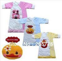 Cheap Wholesale-Free shipping! Thicken velvet-cotton baby sleeping bag child sleepsacks air-conditioned bag baby pajamas