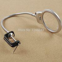 Wholesale New Offer Lens X X Bench Magnifier Clip on Desk Loupe Metal Hose B