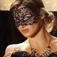 Wholesale Party Decoration Masquerade Lace Mask Black Party Eyeshade Sexy Halloween Dance Party Mask Free Shipment