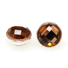 Wholesale jewelpops coffee faceted crystal jewelpop with silver plated kameleon jewelpop