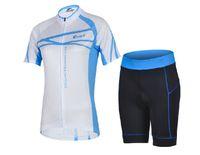 Cheap New Female Models Yicai Blue Cycling Jerseys Women Outdoor Cycling Jerseys Shirt Sweat Breathable Short Suit Sportswear Riding Equipment