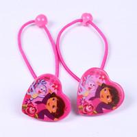 Wholesale 2014 lovely Dora hair band Princess Baby Elastic rubber band Headwear Cute Girl s Hair Accessories Fashion hair rope H024