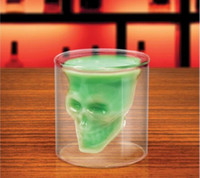 Wholesale Doomed Crystal Skull Head Vodka Shot Glass Double Glasses Beer ML Drinking Cup Ware Bar Creative Original Skeleton Wine Whisky Gift DHL Q3