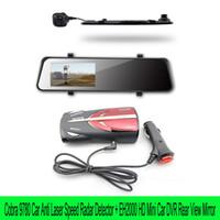 Wholesale Cobra XRS Digital Radar Anti Laser Detector Russian English Voice EH2000 Full HD Car DVR video Recorder dual lens Rear view mirror