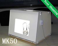 Cheap New Professional Mini photographic light Cube Light Box Soft Box MK50 for Product Catalog Photography Photo studio 510*400*390mm
