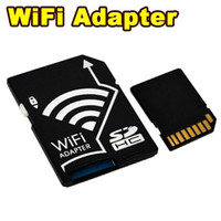Wholesale 2014 Newest Wifi SD HC Card Adapter Micro SD TF Converter For SONY Canon Nikon Camera Transfer Wireless Support GB GB GB Black D5235A
