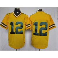 Wholesale Aaron Rodgers Jerseys Packers Yellow Elite Football Jerseys Top Selling American Football Players Jersey Brand Apparel