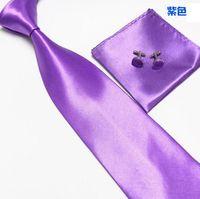Wholesale HOt men s ties sets colors neck tie set necktie hanky cufflinks Handkerchiefs Pocket square tower cravat WH883H