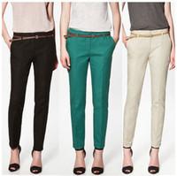 Cheap Fashion 2014 Spring Women Long Trousers With Belt Bandage Harem Pants Sport Sweatpants Disco Elegant Lulu Yoga Palazzo Casual