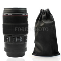 Wholesale New Stainless Steel Camera Lens EF mm Thermos Travel Coffee Mug Gift Pouch