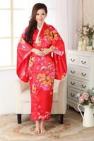 japanese dress style - Vintage dress Japanese Women s Silk Satin Kimono Yukata Evening Dress Japanese style dress for women Free Size H0023