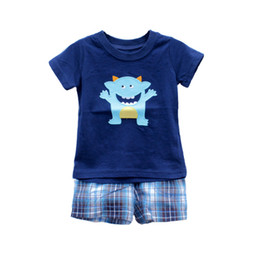Wholesale baby boys clothes set baby Summer outfits New childrens Leisure t shirt shorts sets baby clothing kids sport suit baby clothes Kids