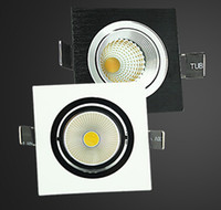 best led drivers - Best of Best W Dimmable COB LED Downlights Square Indoor Recessed Lamp White Warm White V Power Driver