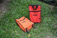 Folding Plain Canvas Free DHL wholesale non woven folding market cart bag foldable shopping bag on the wheels eco fold totes bolsa trolley