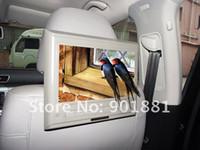 Cheap car NEW 2014 headrest dvd players 9 inch Slim DTV AV IN OUT FM transmitter IR earphone Built in speaker MP5 720P 32 bit Native Games