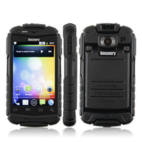 Wholesale Unlocked Discovery V5 Android Phone Shockproof Dustproof MTK6515 WiFi Inch Screen MB GB Dual SIM G Rugged cell phone