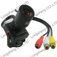 Cheap High Resolution 2.8-12mm IRIS Manual lens Mini 1 3 CMOS 600TVL Security Audio Video Color CCTV Camera