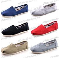 Revisiones Hombres zapatos nuevos estilos-Libere el nuevo estilo de los zapatos de lona el envío libre de las mujeres y los hombres de moda los zapatos de lona mocasines zapatos planos de las mujeres Alpargata tamaño de las zapatillas de deporte 35-45