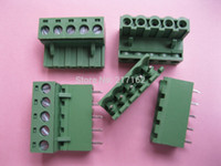 Wholesale 200 Per mm Straight pin pin Screw Terminal Block Connector Pluggable Type Green HOT Sale HIGH Quality Brand New