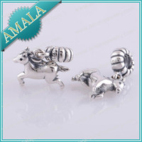 Wholesale charms silver New Authentic Sterling Silver Beads Charm Women Jewelry DIY Fits Pandora Bracelet Necklace LW192