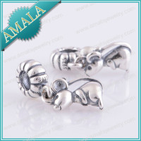 Wholesale glass beads for jewelry making Sterling Silver Beads Fit for all European Style Bracelets DIY Retail Drop shipping LW186