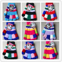 Wholesale children accessories HotSelling Candy Color Autumn Winter Thermal Children s Gloves Baby Girl Boy Gloves Keep Warm Kid s Mittens